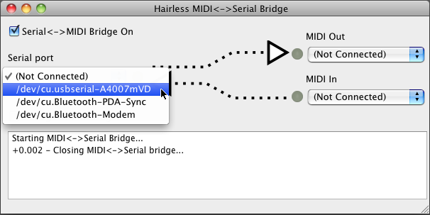 The Hairless MIDI<->Serial Bridge